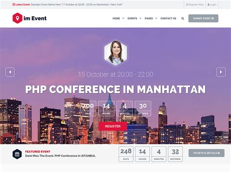 30 best events wordpress themes 2018 athemes
