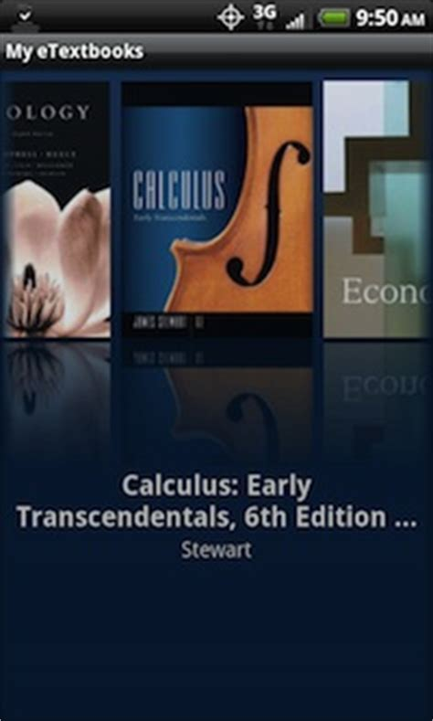 coursesmart launches e textbook app for android cus