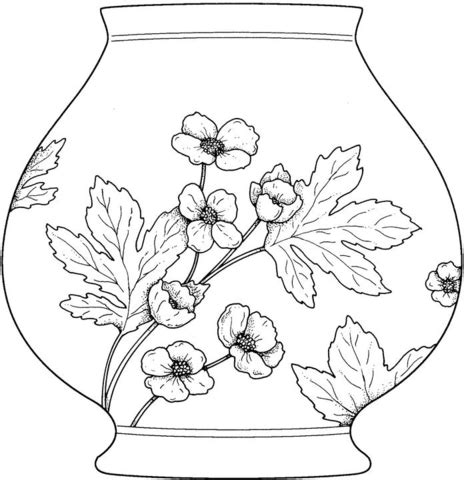 Flowers In Vase Coloring Pages by 301 Moved Permanently