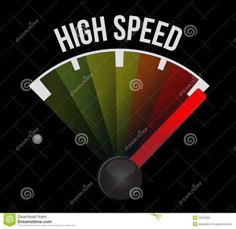 high speed high speed speedometer stock illustration illustration of