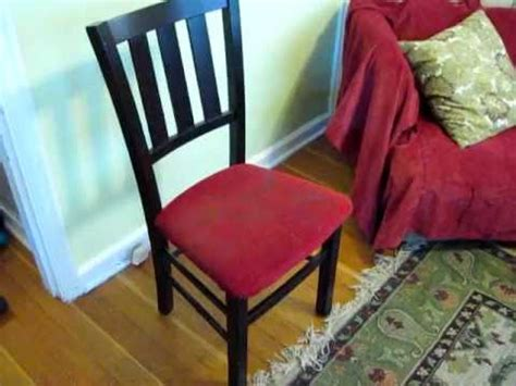 Upholstering A Chair Seat Cushion by How To Upholster A Chair Seat Part 1 Dismantle The