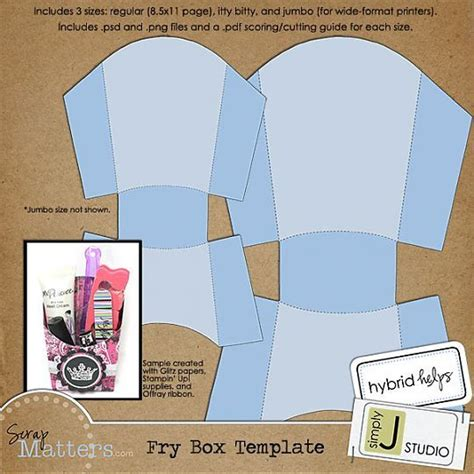 fries packaging template template special folded cards