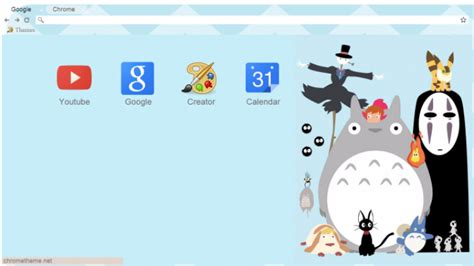 theme chrome totoro studio ghibli chrome theme themebeta