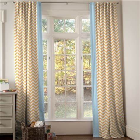 Aqua And Orange Curtains Light Orange And Aqua Chevron Tab Drapes With Vertical Trim Contemporary Curtains