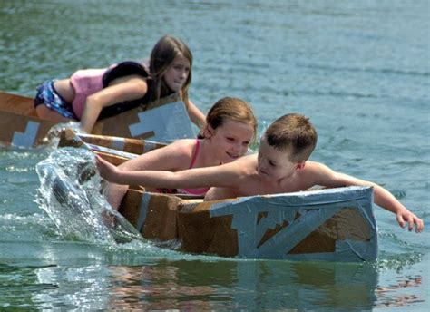 cardboard boat race rome ga one with the water smoky mountain living