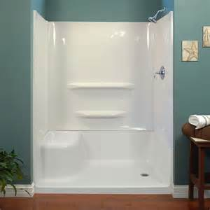 Shower Bath Base Seated Shower White Walls Foremost Bath