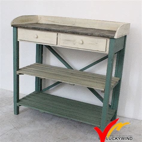 antique potting bench shabby farm antique wooden potting bench and table buy