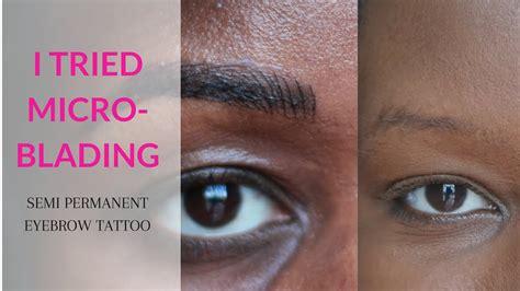 microblading review  dark skin black woman  color