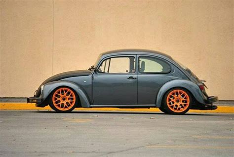 grey volkswagen bug vw grey beetle orange rims das vintage vw beetle s