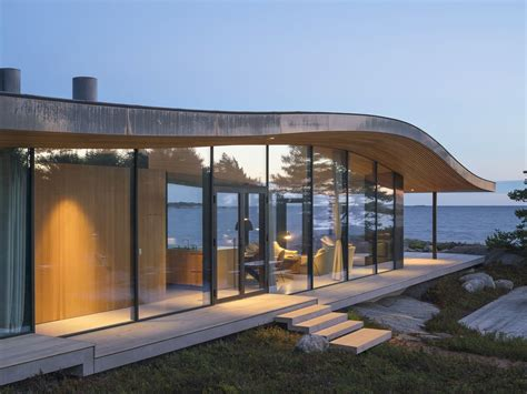 design hill finland modern sea front summer glass house in finland