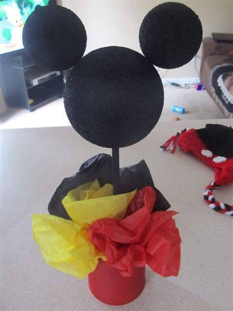 mickey mouse decorations diy diy mickey mouse birthday diy centerpiece idea