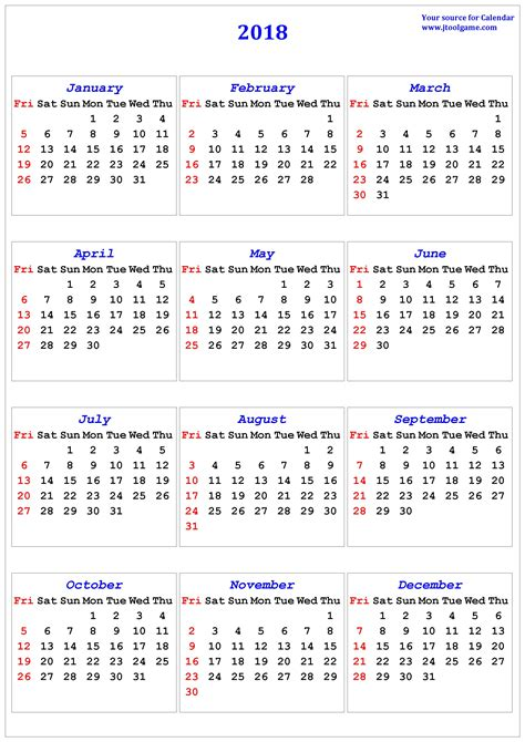 2018 calendar with week numbers printable carbon