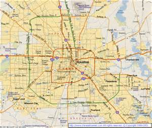 city map of houston houston tx map
