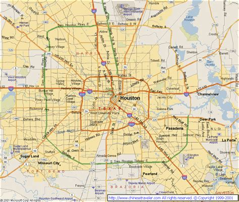 houston map texas houston tx map
