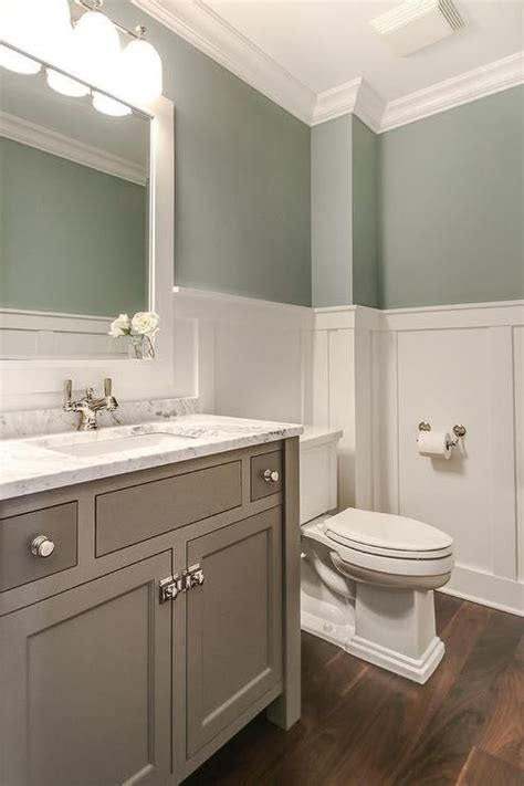 green gray bathroom tranquil bathroom features upper walls painted gray green