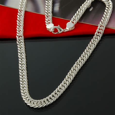 chains for jewelry wholesale cool silver plated necklace jewelry wholesale fashion