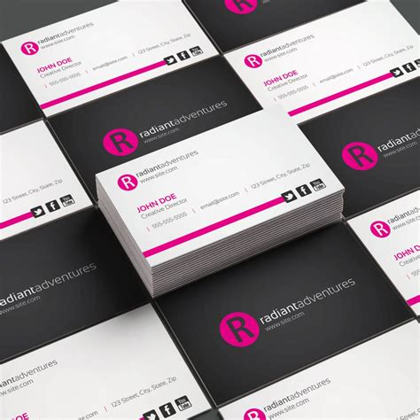 horizontal cards templates horizontal business card template design procademy