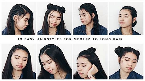 Hairstyles For Easy 2017 by 10 Easy Hairstyles For Medium To Hair 2017