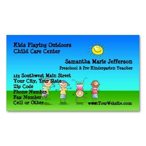 buisness cards aand templates for child care 239 best childcare business cards images on