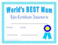 printable mother s day gift certificate awards