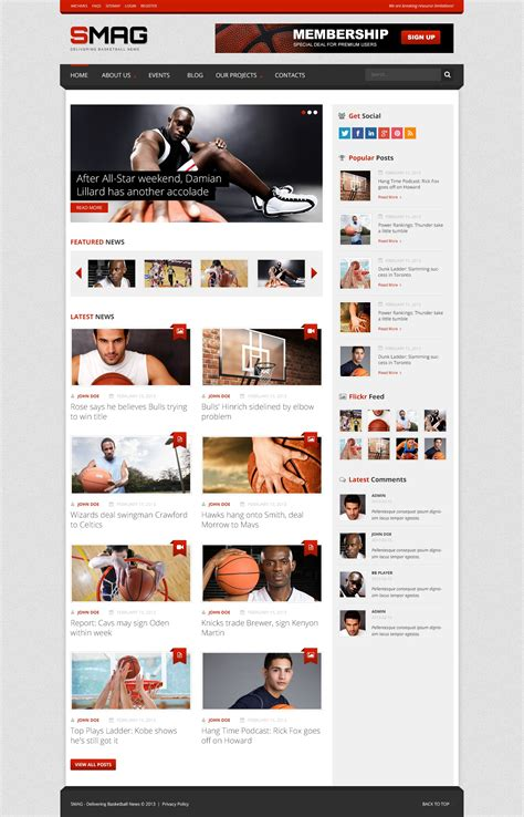 Theme Zoom Blog | basketball blog wordpress theme 44325