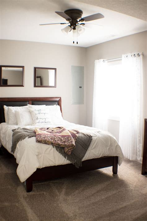 guest room ideas simple  traditional dark wood bed