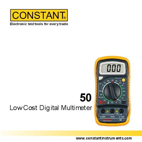 Multimeter Digital Constant jual constant dmm 50 low cost digital multimeter