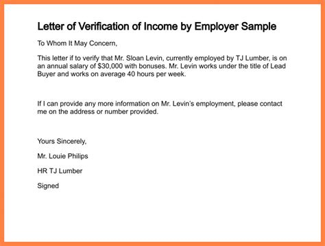 Employment Verification Letter With Salary 11 Sle Salary Confirmation Letter From Employer