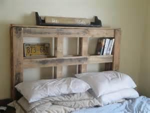 Wood Pallet Headboard Headboard From Wood Pallets Pallettes