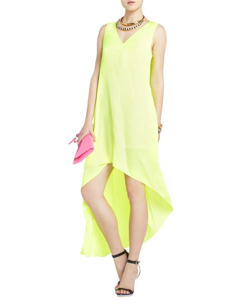 How To Copy Guccis Asymmetrical Yellow Dress For Less by Lyst Bcbgmaxazria Avery Asymmetrical Dress In Yellow