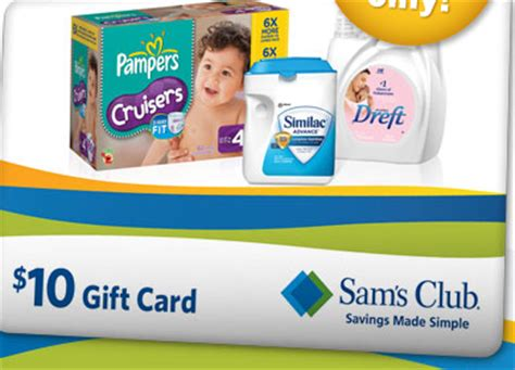 Sam S Club Best Buy Gift Card - sam s club get a 10 gift card when you buy 2 selected baby products