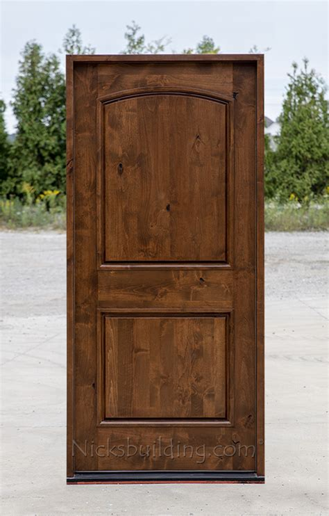 Knotty Alder Exterior Doors Rustic Doors Single Exterior Door Knotty Alder Doors
