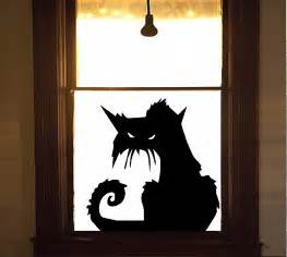 Cat Doors For Windows Decor Scary Cat 2 Wall Or Window Decal