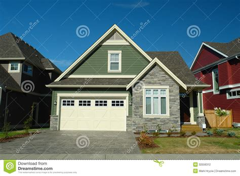 houses with rock and siding house stock photography image 32556312
