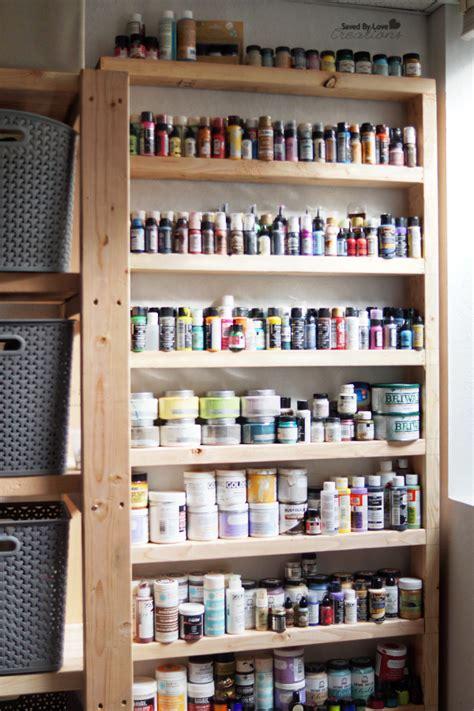 shelving for craft room diy wood shelf craft storage