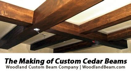 custom decorative cedar box beams from woodland custom the making of custom cedar beams by woodland beam company