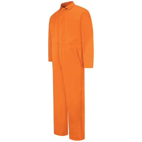 Wearpack 100 Cotton 100 Coverall Cotton Orange cc14or orange 100 cotton coverall snap front