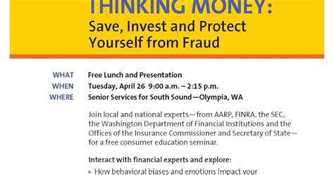 Https Wa Mba Org Events Department Finanical Institution Update by Thinking Money Save Invest And Protect Yourself From
