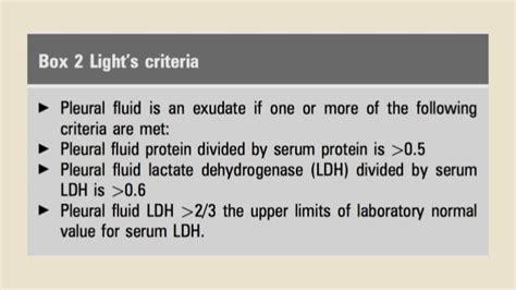 Light Criteria by Lights Criteria Pleural Diseases