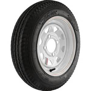 Trailer Tire And Wheel 4 High Speed Spoked Design Trailer Tire Assembly