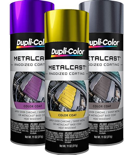 metalcast anodized automotive paint aerosol dupli color