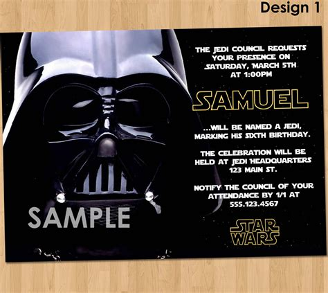 darth vader birthday card template free wars birthday invitations bagvania free