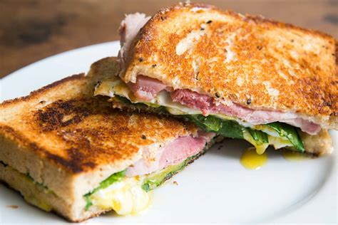 best sandwich recipes greens eggs and ham grilled cheese sandwich recipe