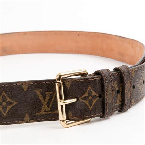 brown cloth louis vuitton belt vestiaire collective