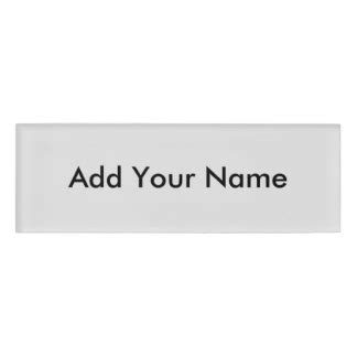 name tag design creator create your own name tags badges zazzle