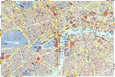 printable map london city centre an interactive image thinglink