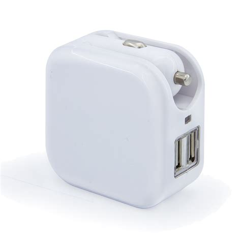 usb ports 2 in 1 portable travel charger adapter foldable