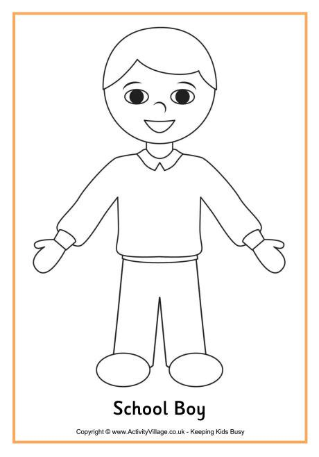 boy printable coloring pages