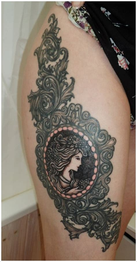 women thigh tattoos thigh tattoos for