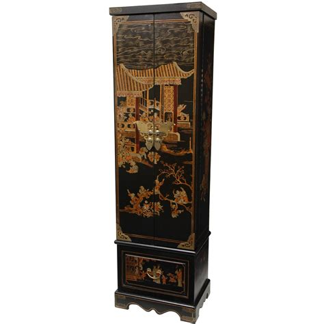 oriental jewelry armoire oriental furniture black lacquer floor jewelry armoire ebay